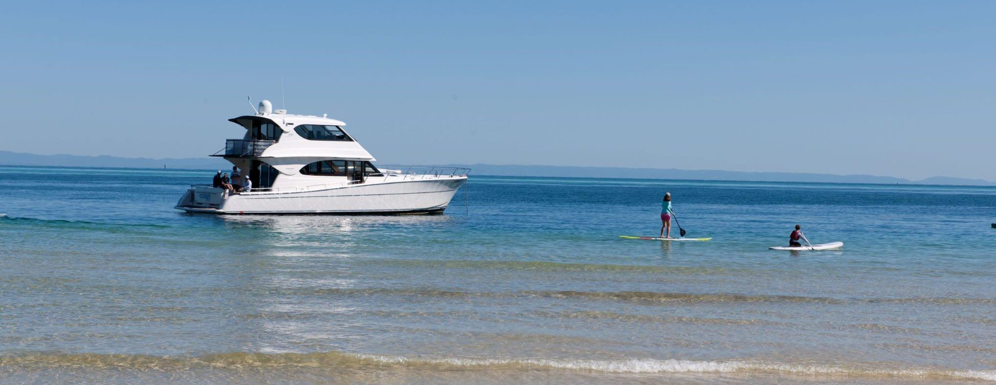 tangalooma padle baord weekend private charter luxury holiday