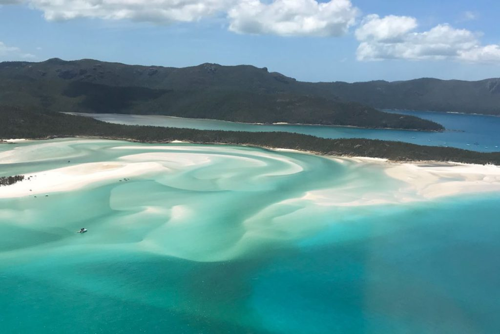 hill inlet whitehaven beach aerial view whitsunday national park