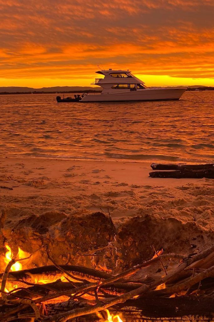 sunset bonfire beach brisbane gold coast noosa byron bay moreton bay